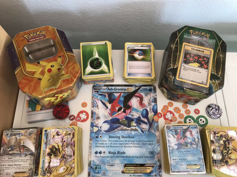 Cheap Pokemon Cards 490 2 Tins Board Coins And Rare Mint Card