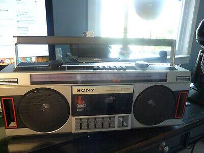 Vintage Sony CFS-350 AM/FM Stereo Cassette Boombox Super Woofer Equalizer Works