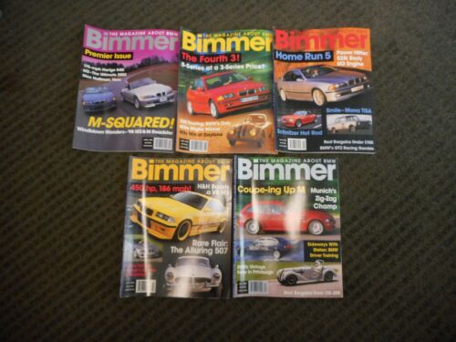1998 BIMMER BMW Magazine Lot of 5 M-Roadster M-Coupe Includes Premier Issue