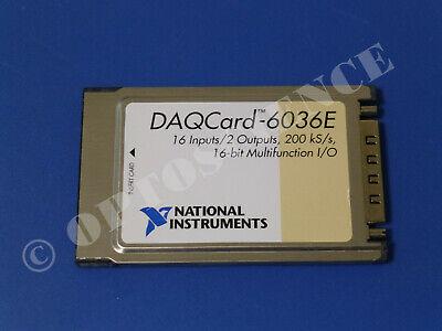 National Instruments Daqcard-6036e Ni Daq Card Pcmcia Analog Input Multifunction