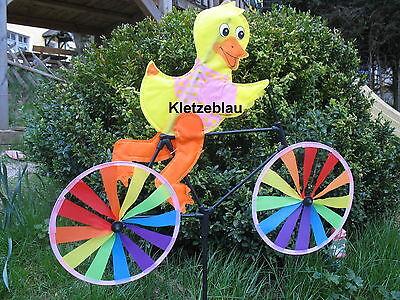 XXL Doppeltes Windrad Blumen Windmühlen Windspiel Dekoration für Garten NEU