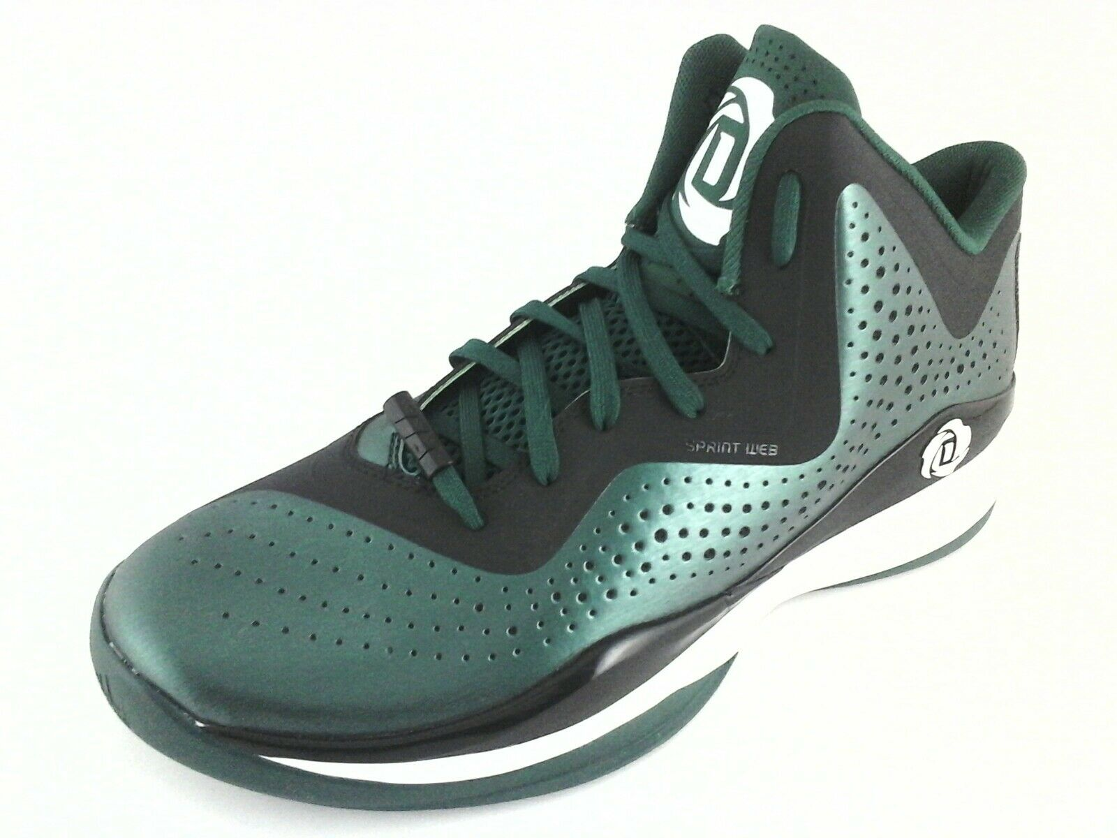 3659d7d4d321 Adidas D Rose 773 Men s Basketball Shoes C75723 Green Black US 12 EU 46 2 3  New