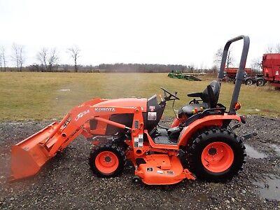 2016 Kubota B2601 Tractor W La434 Front Loader 4wd 60 Belly Mower Hydro