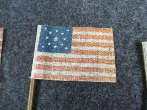 ORIGINAL CIVIL WAR 13 STAR PARADE FLAG GLAZED COTTON