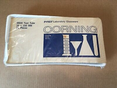 Vintage 1970s Pyrex Laboratory Glassware Corning 9800 Test Tube 16 X 150 Mm New