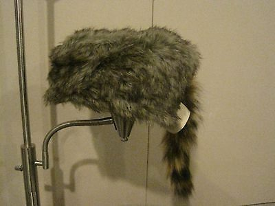 REAL COON SKIN CAP hat Davy Crocket raccoon - Raccoon Skin Hat