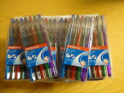 20 x Wholesale Joblot of 5 Erichkrause Gel Ink Assorted Colour Pens Stationary
