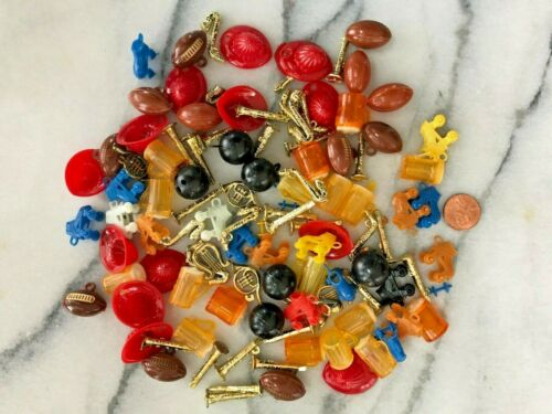 Vintage Plastic Mini Toy Lot Gumball Cracker Jack Style Sports Beer Instruments