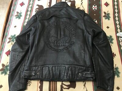 Harley Davidson Men's Willie G Skull Leather Jacket Size L with Zipout Liner