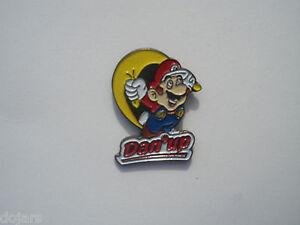 Super-Mario-DanUp-NINTENDO-1993-Promo-Enamel-Metal-PIN-BADGE-Pins-Pins-RARE