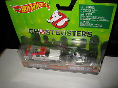 1/64 HOT WHEELS GHOSTBUSTERS MOVIE  SET ECTO-1 AND ECTO-2 BIKE