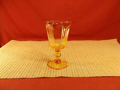 Lenox Crystal Antique Yellow Pattern Wine Goblet 5