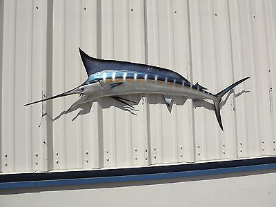 "59"" Blue Marlin Half Mount Fish Replica"
