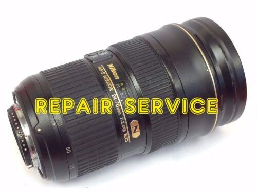 Repair service for Nikon 24-70mm f/2.8 G AFS N lens