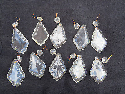 10 NICE PENDALOQUE  CHANDELIER DROPS TOTAL LENGTH 3 INS READY TO HANG