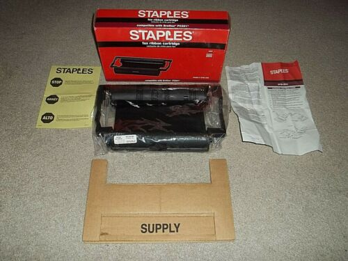 New Box Staples Fax Ribbon Toner Cartridge SFB-35C Compatible With Brother PC201