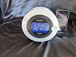 Sony Dream Machine ICF-CD3iP CD Player Alarm Clock Radio + iPod Dock/Audio Jack