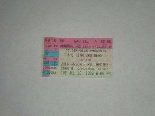 Neil Finn Tim Finn Ticket Stub-1996-John Anson Ford Theatre-Los Angeles,CA