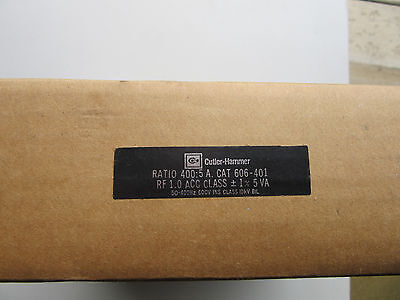 Cutler Hammer 606-401 Current Transformer Ratio 400 5a 50-400 Hz New Sealed