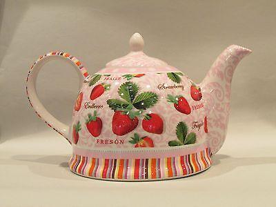 Iglu Teekanne Dekor Erdbeere  Jameson & Tailor Keramik Kanne 1,5L 5490
