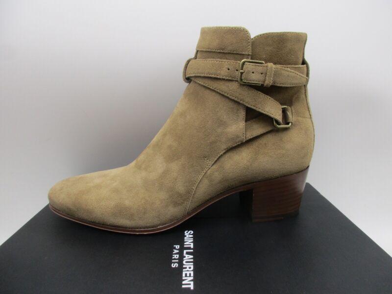 370eba8cfa0 Details about Yves Saint Laurent Blake 40 Jodhpur Buckle Ankle Boots Booties  37.5