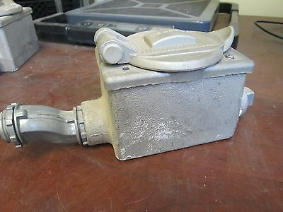 Hubbell Receptacle Woutlet Box 30a 480v 3w Used
