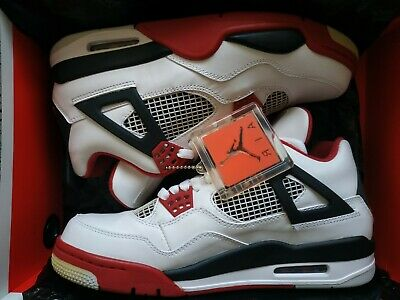 Air Jordan Retro 4 Fire Red Sz: 8.5 White/Red/Black Brand New