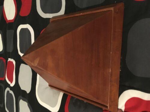 Antique Wood Pyramid Art Sculpture With Storage Cedar Or Teak?
