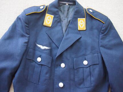 EX - ARMY LUFTWAFFE JACKET SIZE ( M ) COLOUR NAVY BLUE $ 50.00