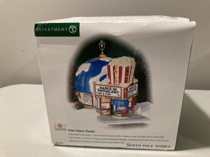 Dept. 56 North Pole Series & Elf Land #56741 POLAR PALACE THEATER New In The Box