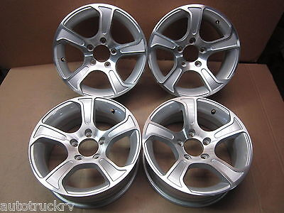"4 Aluminum Trailer Wheels 15""x 6  Rim 5 Lug Bolt RV Utility Cargo Toy Hauler Car"