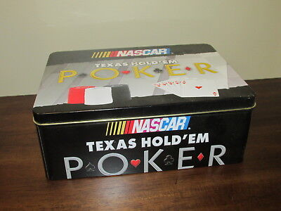 NASCAR Texas Hold Em Poker Board Game Complete In Collector Tin Car Racing (A)