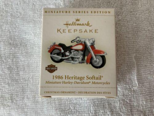 Hallmark Harley Davidson Ornament Miniature Series 1986 Heritage Softail