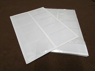 Press On Side Load Adhesive Business Card Holder Clear Open Short-free Shipping