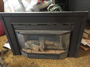 Gas fireplace used
