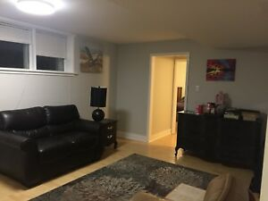 Large bright bsmt suite for rent Nov 1