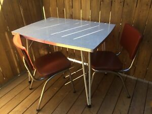 1950's Mid-Century Atomic Formica Table & Chairs