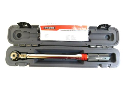 """Proto 3/8"""" Flexible Industrial Micrometer Torque Wrench J6012FC"""