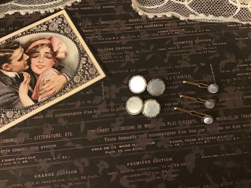 Vintage KREMENTZ Cuff Links and Shirt Stud Buttons