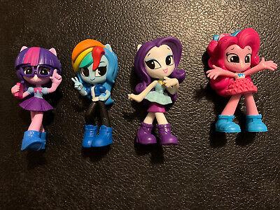 "My Little Pony Equestria Girls 3"" Mini Figure Lot Pinkie Pie Rarity Rainbow Dash"