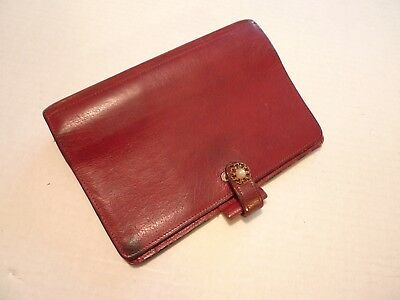 Filofax- Calf Leather Planner -vintage- Made In Uk- Model 4clf 78-shabby Chic