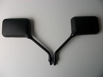 NEW BLACK <em>YAMAHA</em> PAIR MOTORCYCLE MIRRORS RD SR XT XJ600 XS650 FZ750 FJ