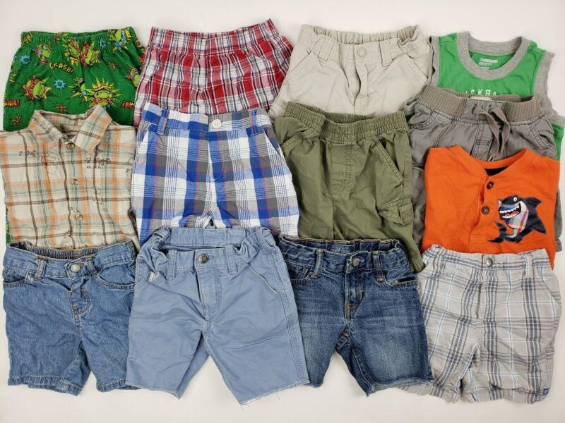 3t Boys Clothes Shorts Lot Baby Gap Garanimals Disney Etc Pooh Denim Jeans Plaid