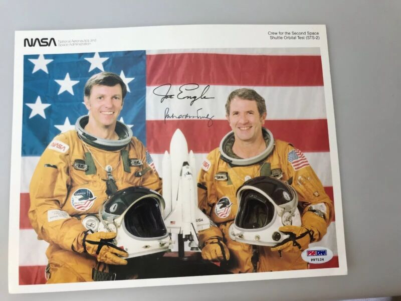 STS-2 Crew signed photo by Joe Engle and Richard truly