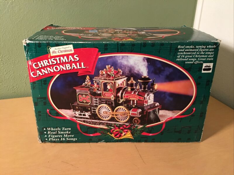 Vintage NEW Mr Christmas Millennium Edition Cannonball Train Motion/Music/Smoke
