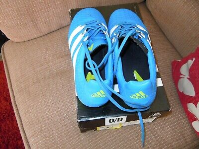 ADIDAS ACE- Blue Football Boots ADULT Size 7. VERY CLEAN  in original box £8