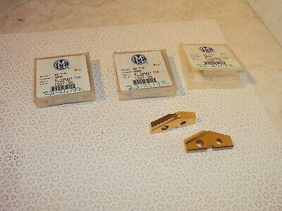 6 Amec 152t-35 2 T-a Super Cobalt Tin Coated 35mm Spade Drill Inserts