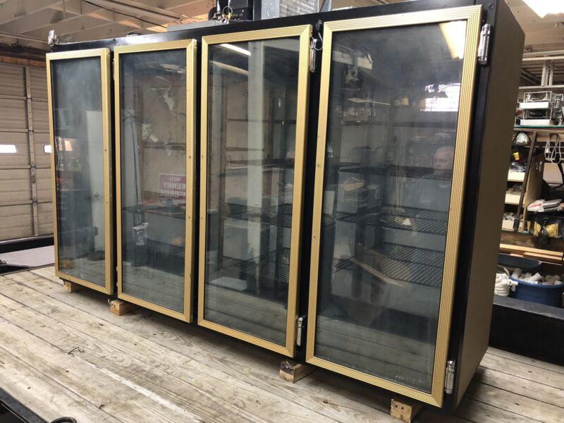 Used Four Glass Door Cooler Merchandiser 4 Door Cooler