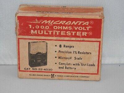 Vintage Micronta 1000 Ohmsvolt Multitester 22-4030 Complete With Box
