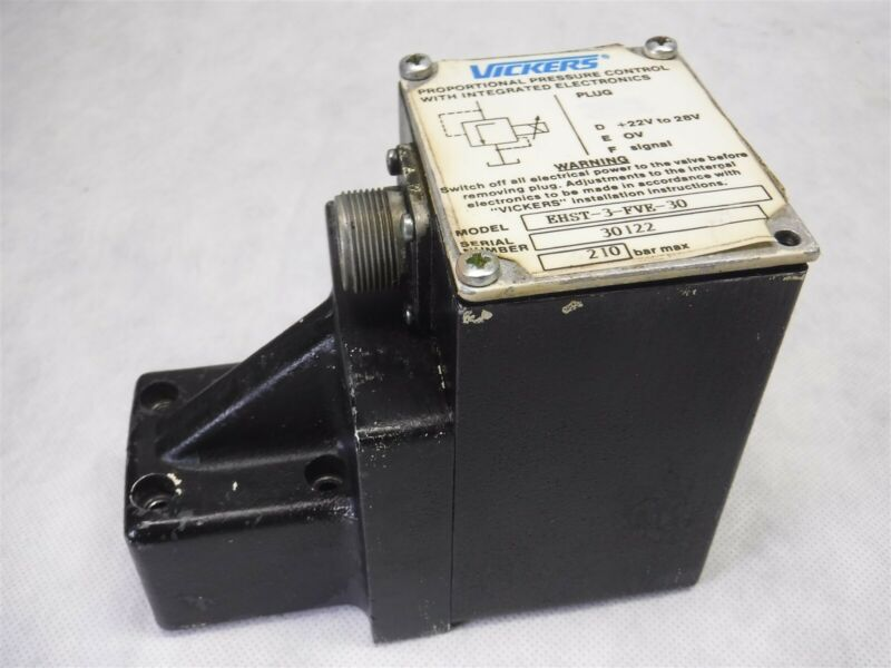 Used Nice Vickers Proportional Pressure Control Valve EHST-3-FVE-30 28 VDC H9